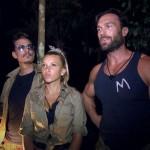 """Alle drei irgendwie gläubig: Chris Töpperwien, Evelyn Burdecki und Bastian Yotta im """"Dschungelcamp"""" 2019 (Foto: RTL)"""