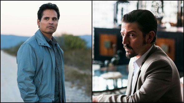 """Wollen beide ihre Organisation besser machen: DEA-Agent Kiki Camarena (Michael Pena) und Drogenboss Félix Gallardo (Diego Luna) in """"Narcos: Mexico"""" (Foto: Netflix)"""