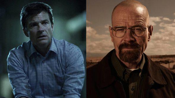 """Ergeben sich ihrem selbstgewählten Schicksal: Marty Byrde in """"Ozark"""" und Walter White in """"Breaking Bad"""" (Fotos: Netflix/AMC)"""